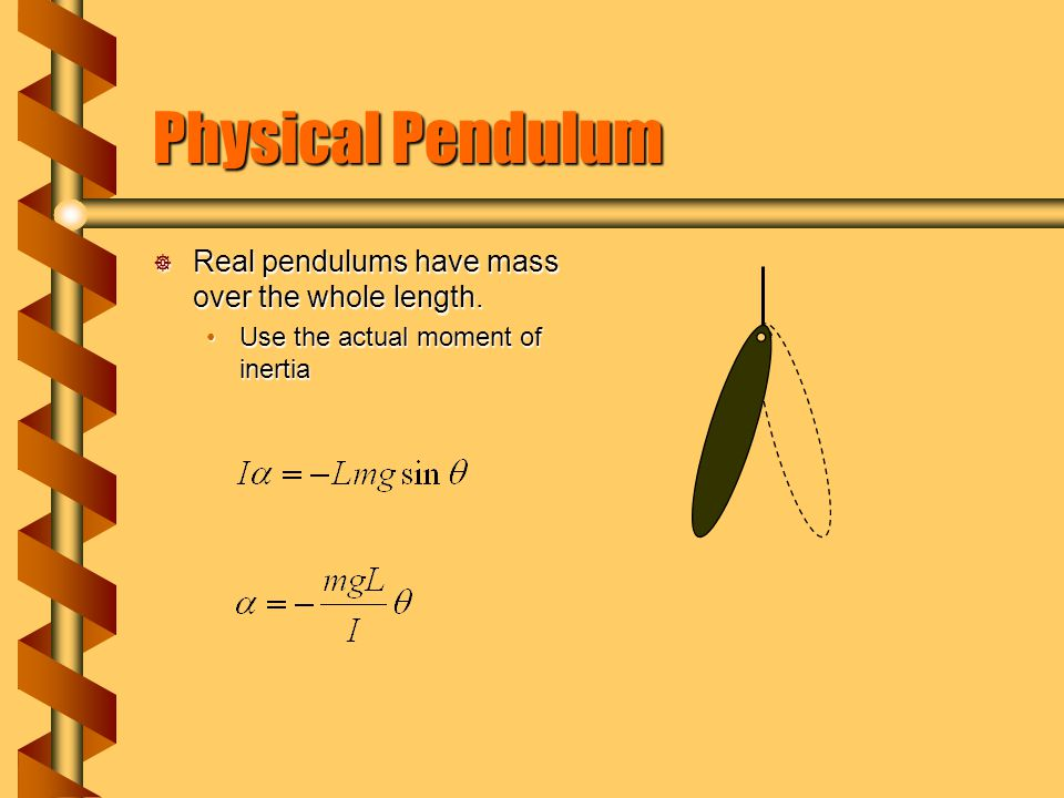 Damped Harmonic Motion  Real pendulums lose amplitude with each swing.