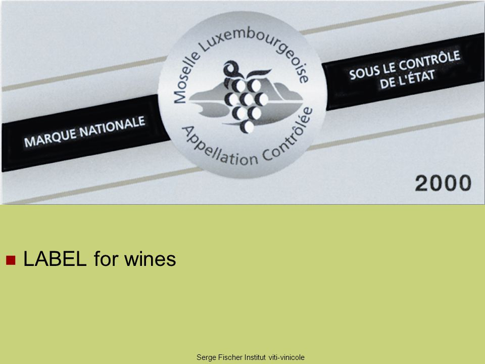 Serge Fischer Institut viti-vinicole LABEL for wines