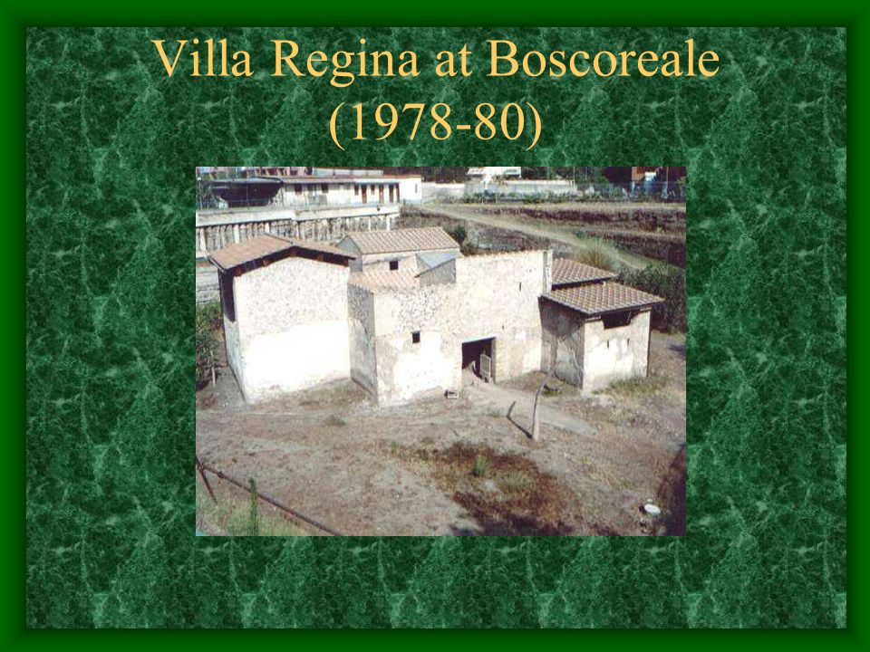 Villa Regina at Boscoreale (1978-80)