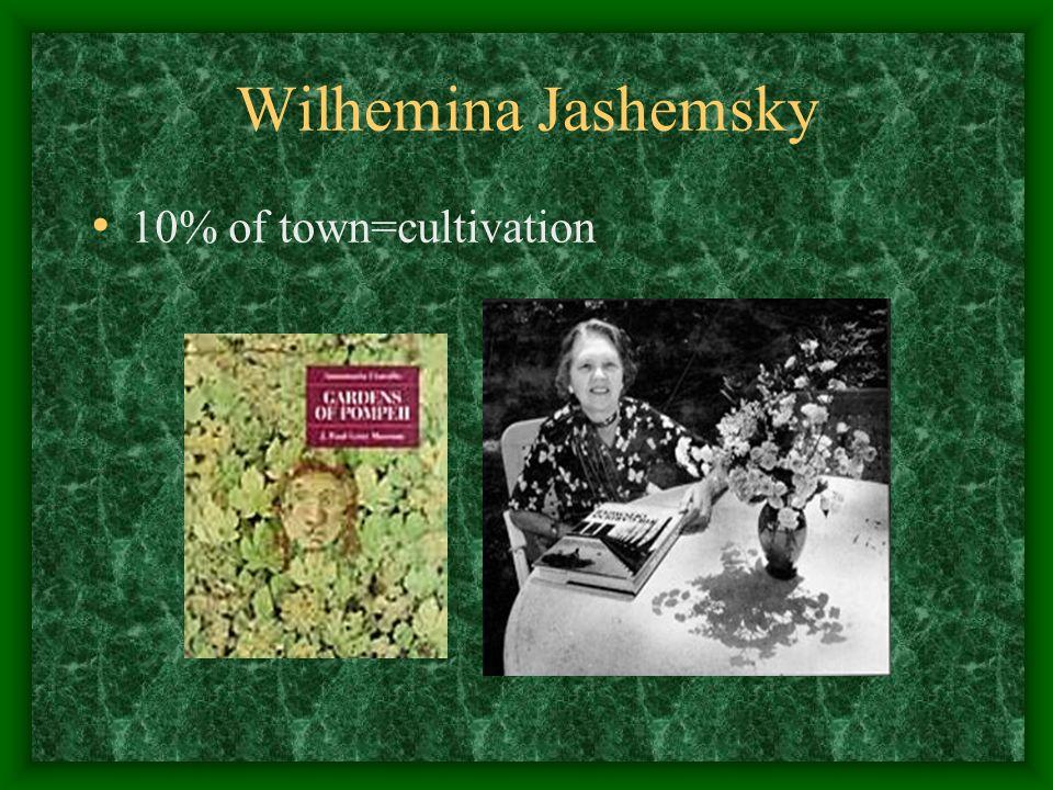 Wilhemina Jashemsky 10% of town=cultivation