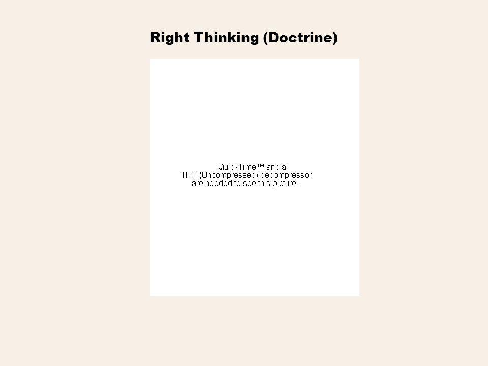 Right Thinking (Doctrine)