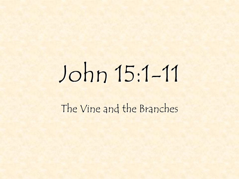 2 John 15:1-11 1 I am the true vine, 21 Yet I had planted you a noble vine, a seed of highest quality.