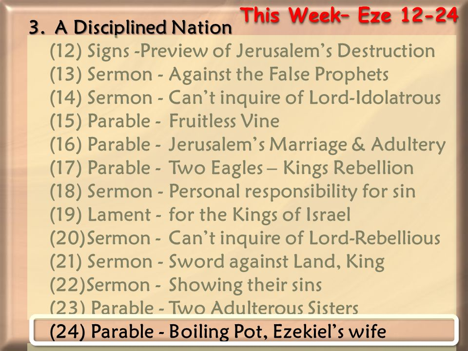 This Week– Eze 12-24 3.