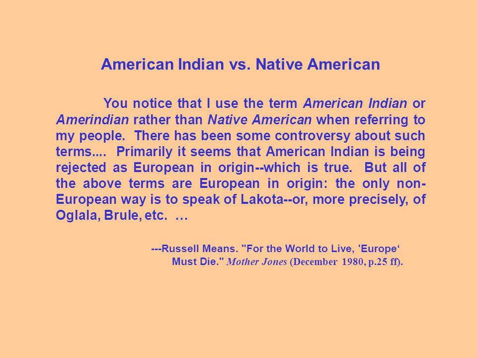 American Indian vs.