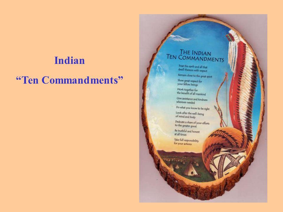 Indian Ten Commandments