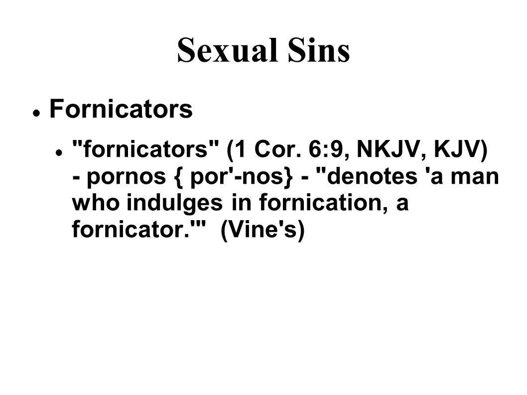 Sexual Sins Fornicators