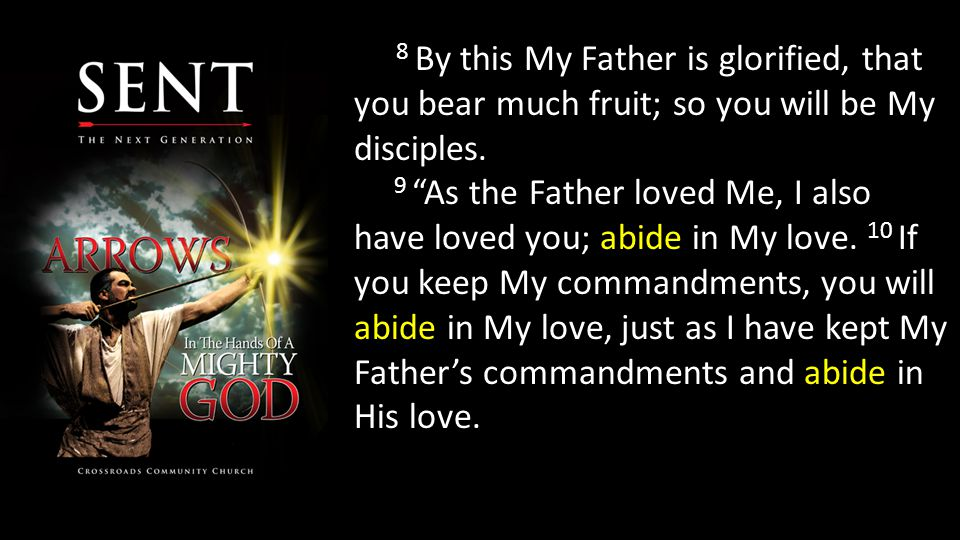 8 By this My Father is glorified, that you bear much fruit; so you will be My disciples.