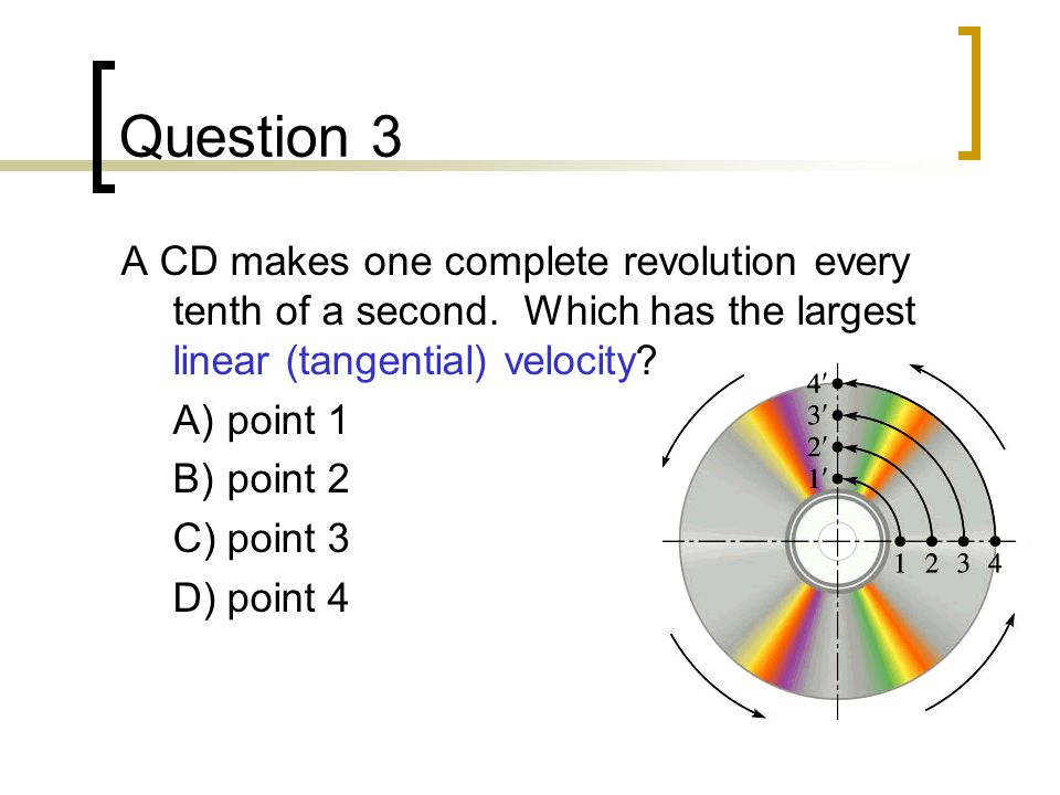 Question 4 A spider is sitting on a turntable that is rotating at 33 rpm.