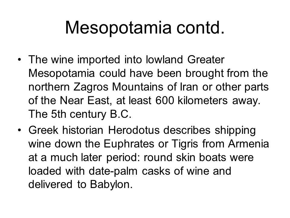 Mesopotamia contd.