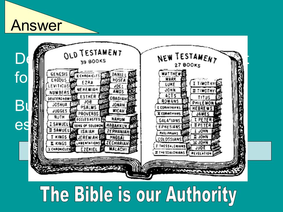 Answer Denominations admit they are not following God's word. But they claim some of it is non- essential or un-important. We cannot agree with that !