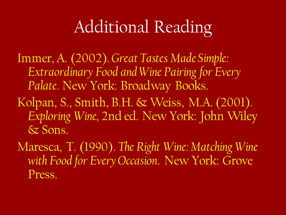 Additional Reading Immer, A. (2002).