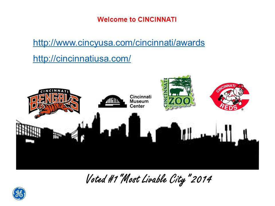 """Welcome to CINCINNATI http://www.cincyusa.com/cincinnati/awards http://cincinnatiusa.com/ Voted #1""""Most Livable City"""" 2014"""