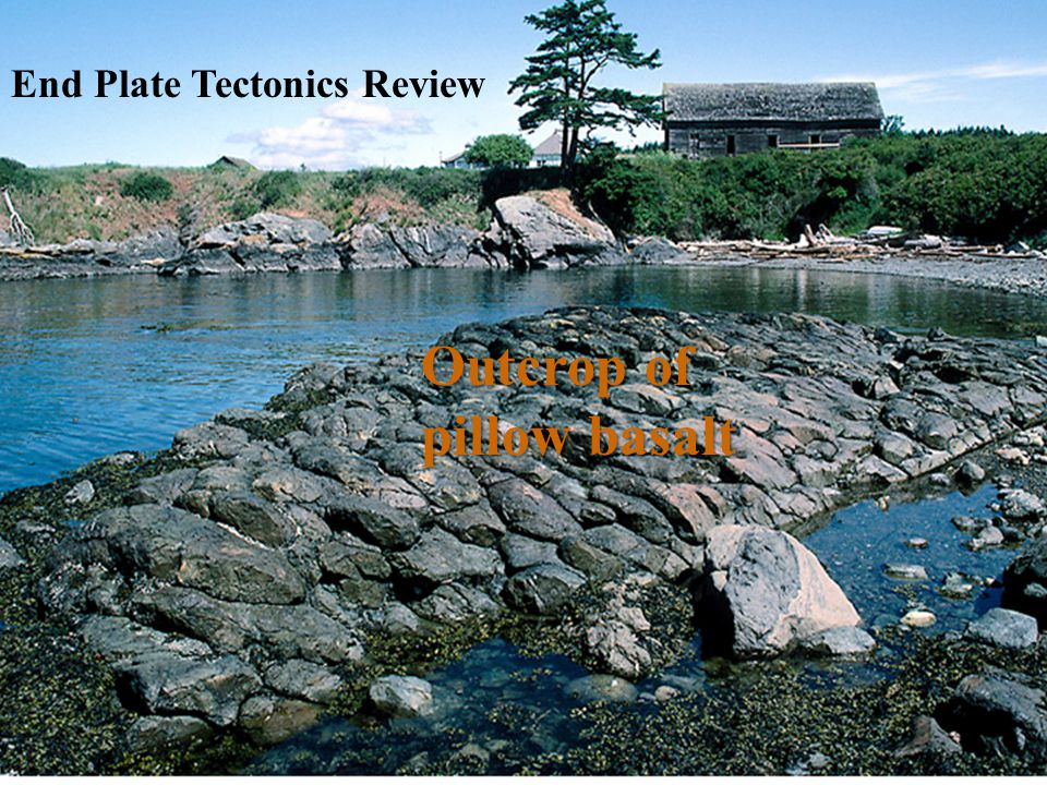 Outcrop of pillow basalt End Plate Tectonics Review