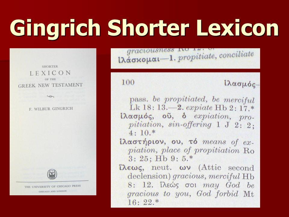 Gingrich Shorter Lexicon