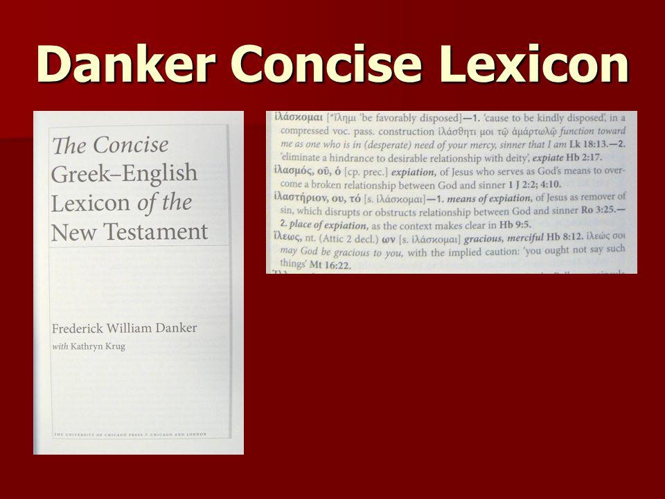 Danker Concise Lexicon