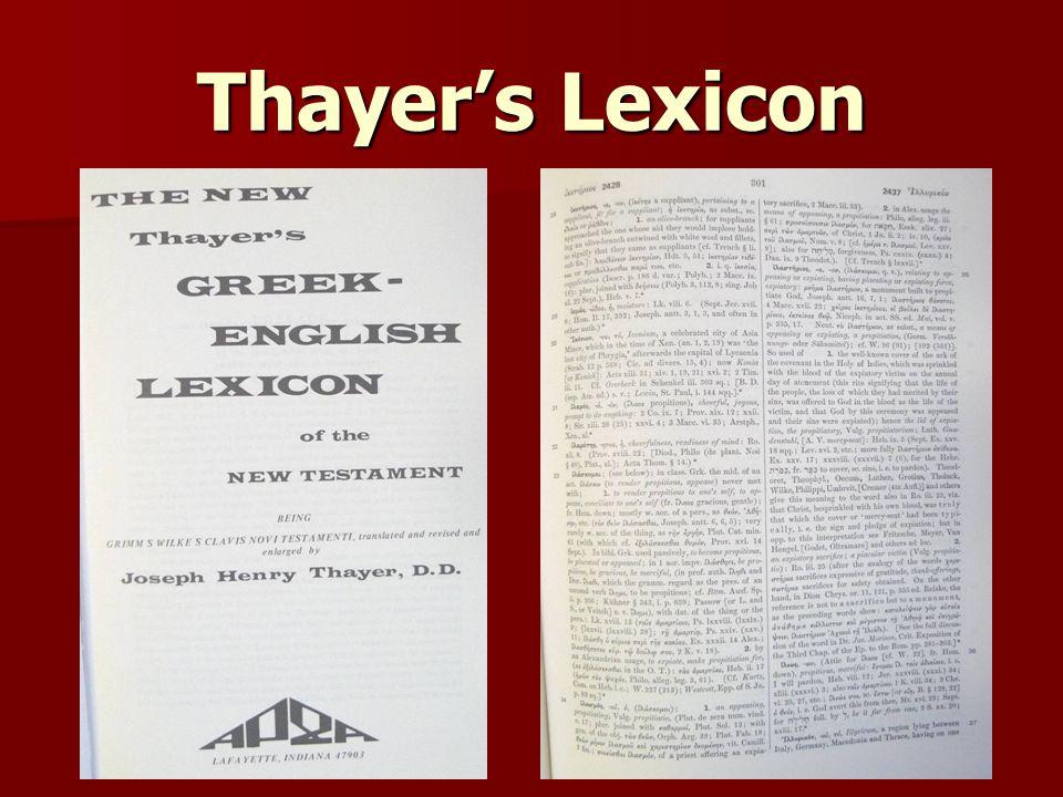 Thayer's Lexicon