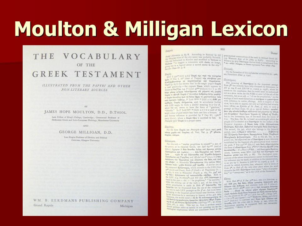 Moulton & Milligan Lexicon