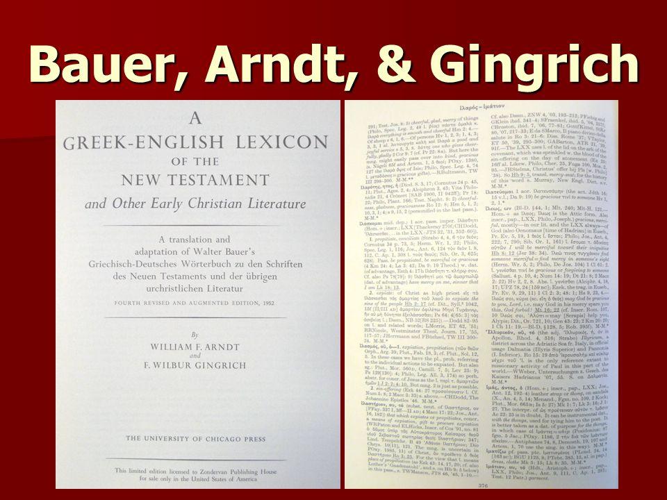 Bauer, Arndt, & Gingrich