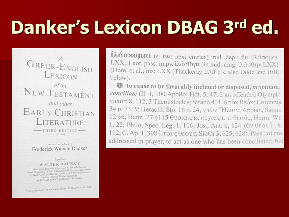 Danker's Lexicon DBAG 3 rd ed.