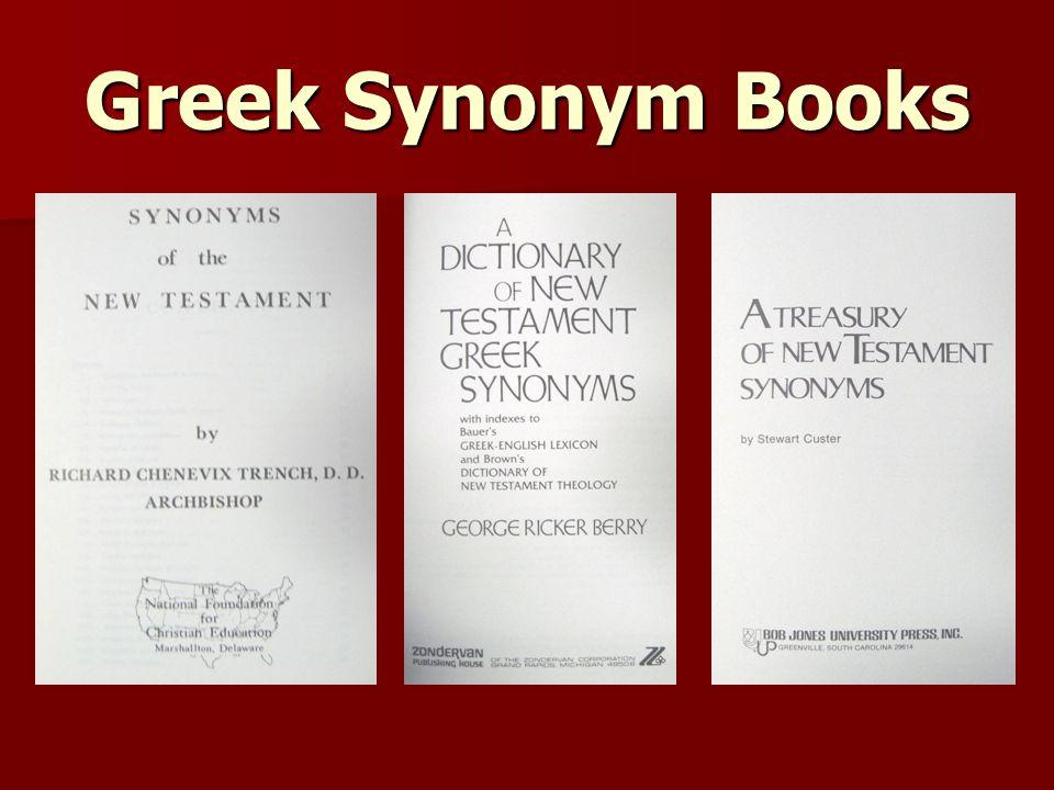 Greek Synonym Books