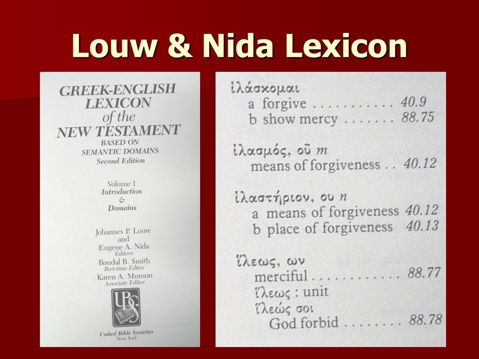 Louw & Nida Lexicon