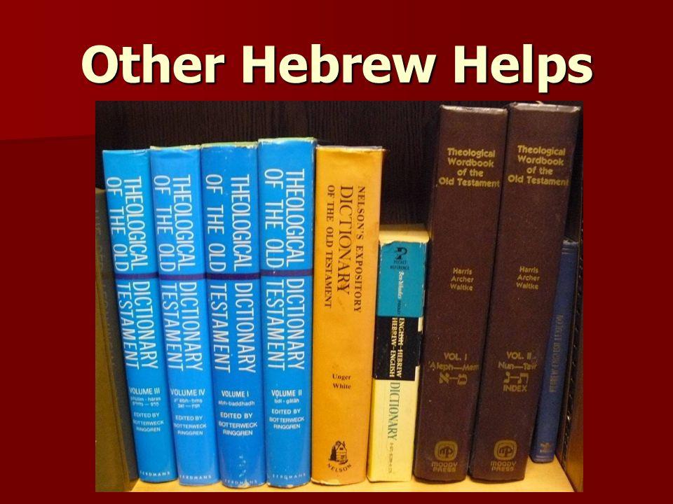 Other Hebrew Helps
