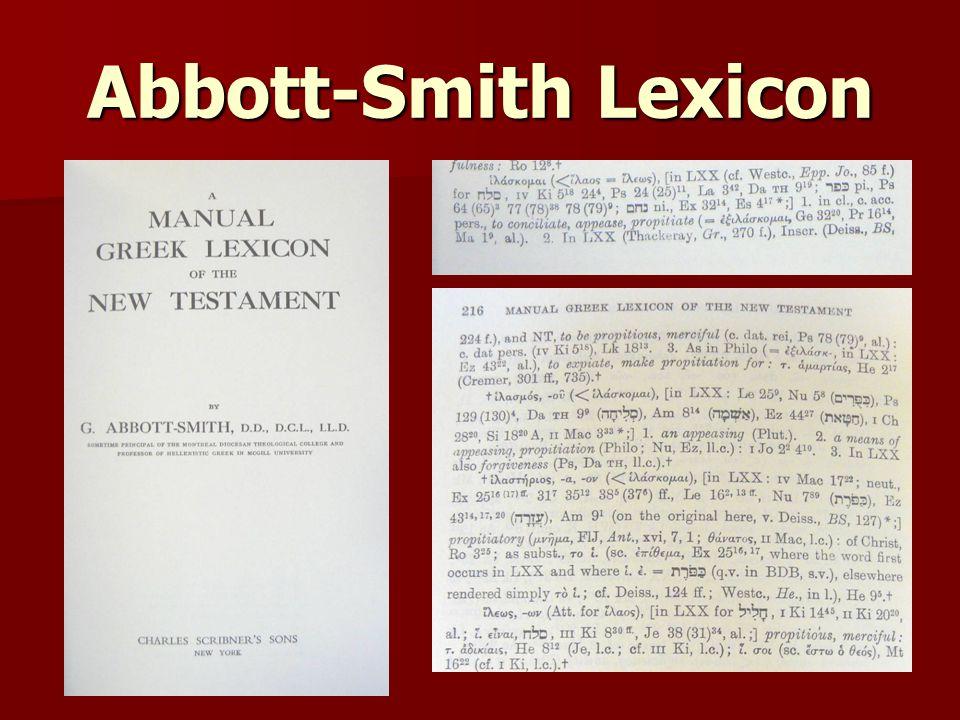 Abbott-Smith Lexicon