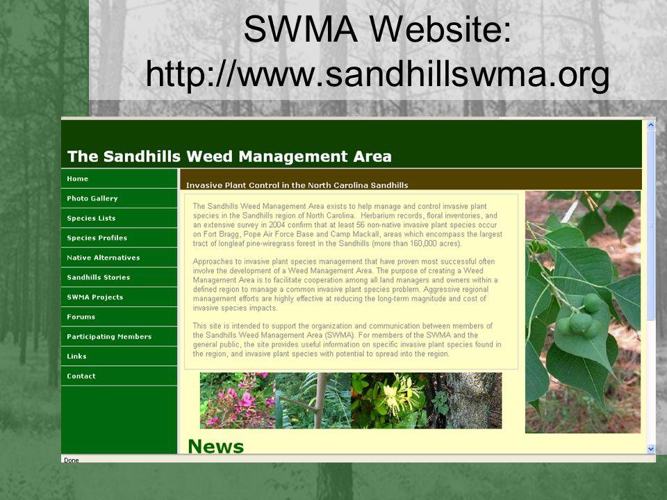 SWMA Website: http://www.sandhillswma.org