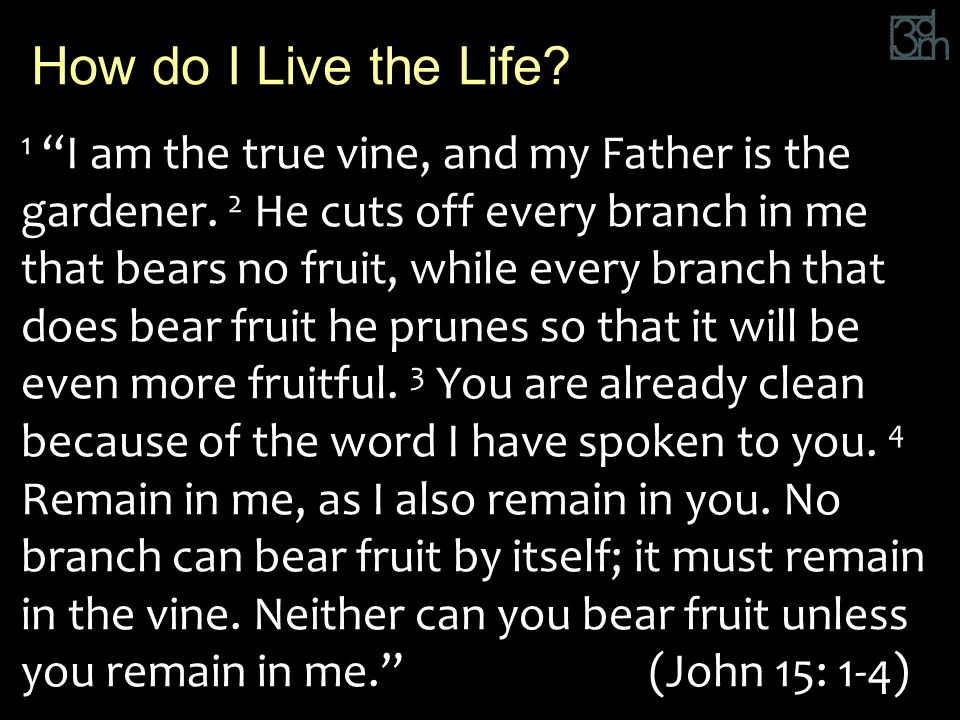 1 I am the true vine, and my Father is the gardener.