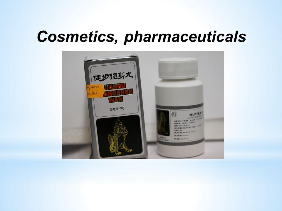 Cosmetics, pharmaceuticals