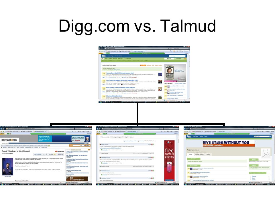 Digg.com vs. Talmud