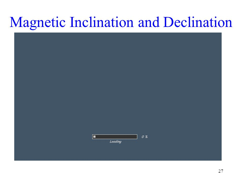 Magnetic Inclination and Declination 27