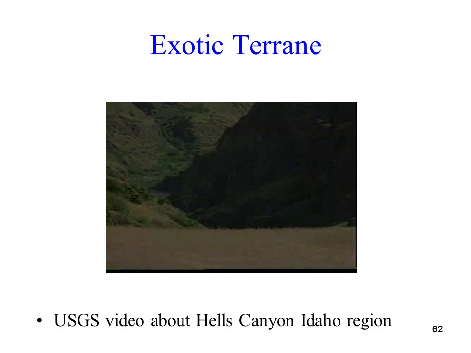 62 Exotic Terrane USGS video about Hells Canyon Idaho region
