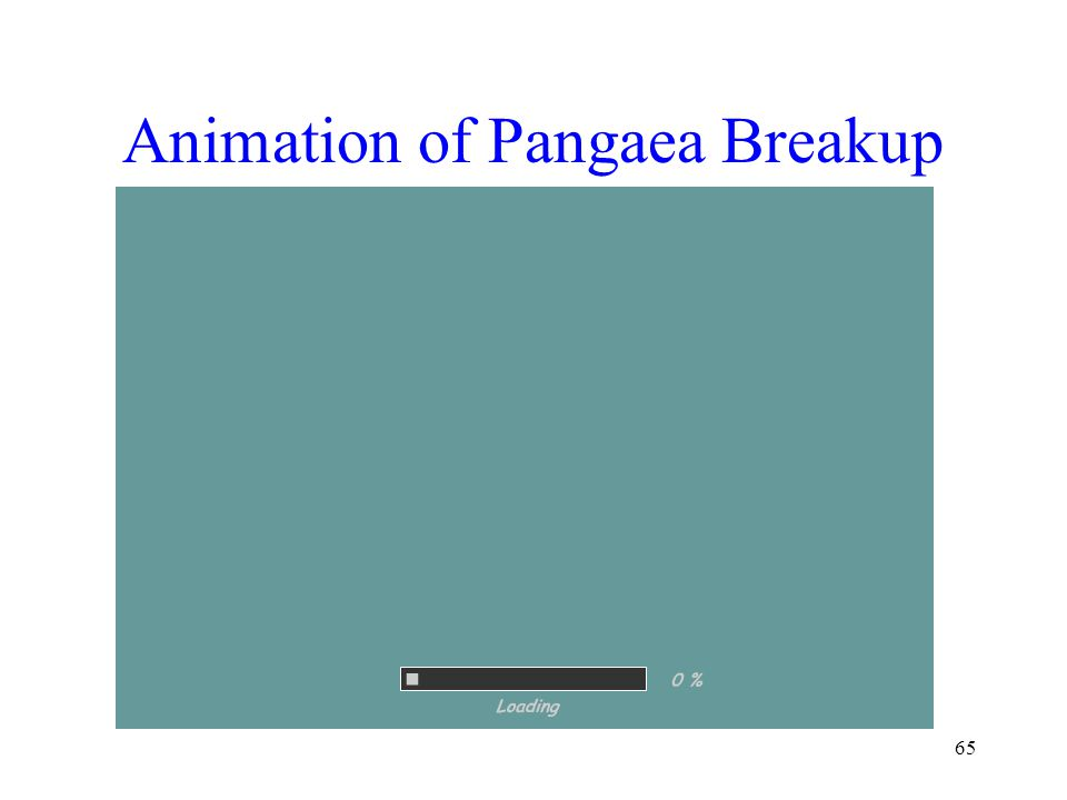 Animation of Pangaea Breakup 65