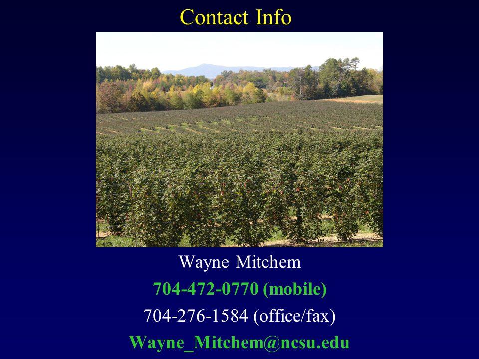 Contact Info Wayne Mitchem 704-472-0770 (mobile) 704-276-1584 (office/fax) Wayne_Mitchem@ncsu.edu