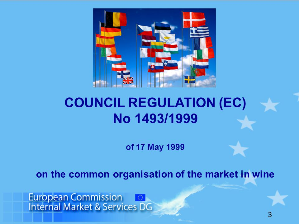 3 COUNCIL REGULATION (EC) No 1493/1999 of 17 May 1999 on the common organisation of the market in wine