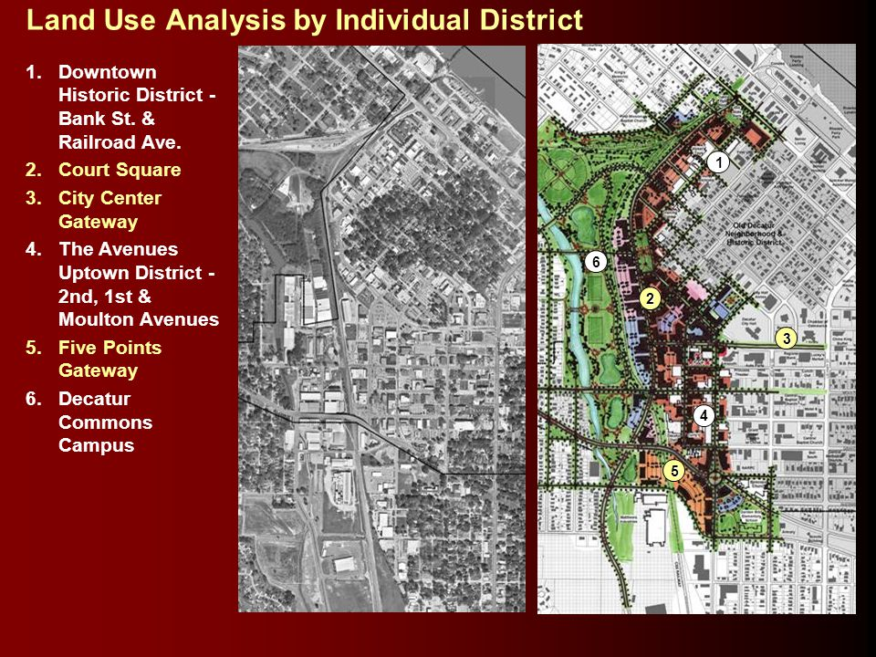 Land Use Analysis by Individual District 1.Downtown Historic District - Bank St.