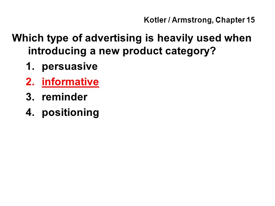 Kotler / Armstrong, Chapter 15 Specific media within each general media type are called media _____.