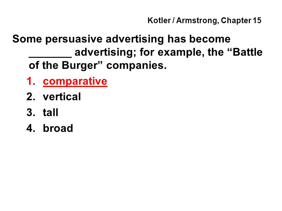 Kotler / Armstrong, Chapter 15 The big idea that brings the message strategy to life in a distinctive way is called the ________ concept.