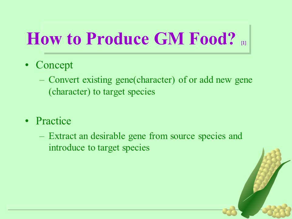 How to Produce GM Food.