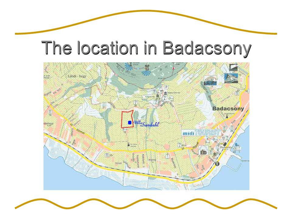The location in Badacsony