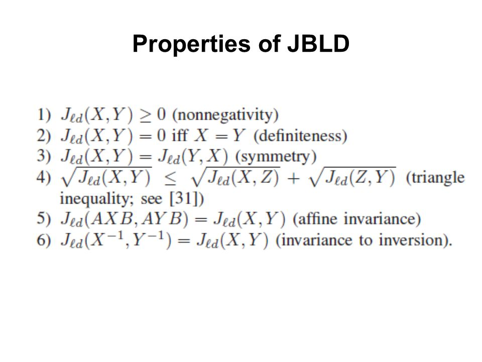 Properties of JBLD