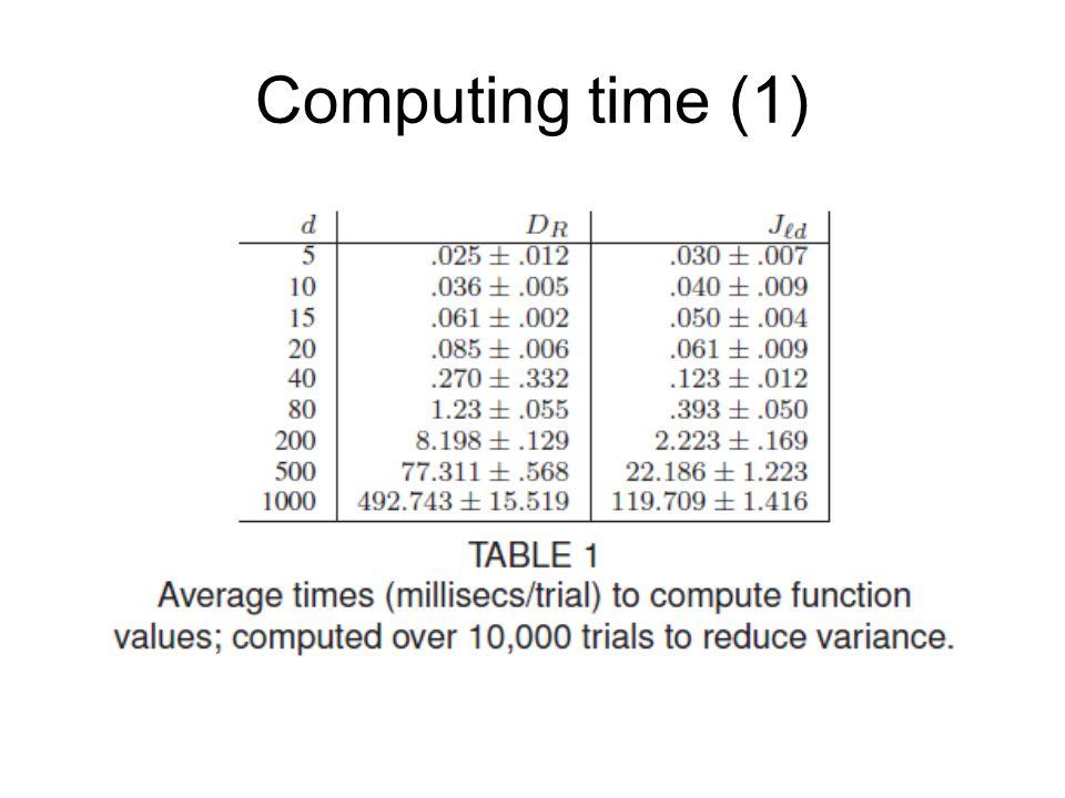 Computing time (1)