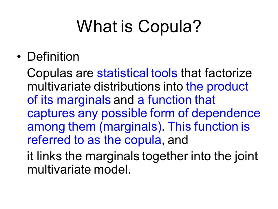 What is Copula.