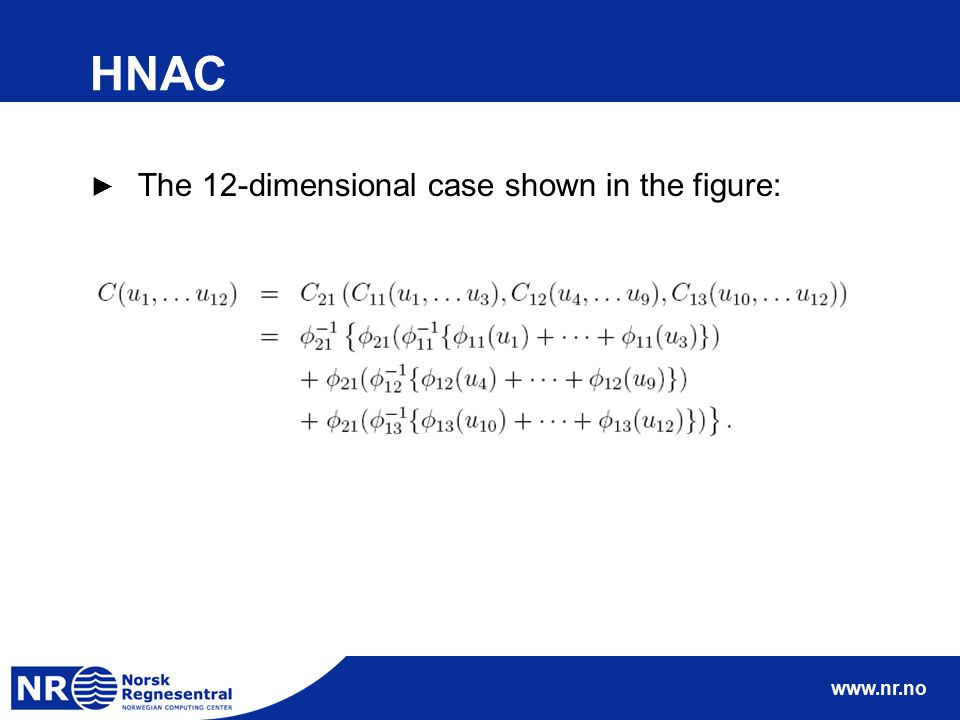 www.nr.no HNAC ► The 12-dimensional case shown in the figure:
