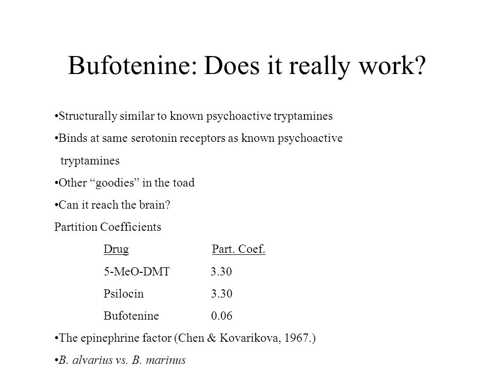 Bufotenine: Does it really work.