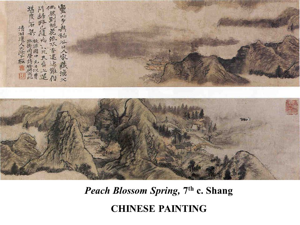 Peach Blossom Spring, 7 th c. Shang CHINESE PAINTING