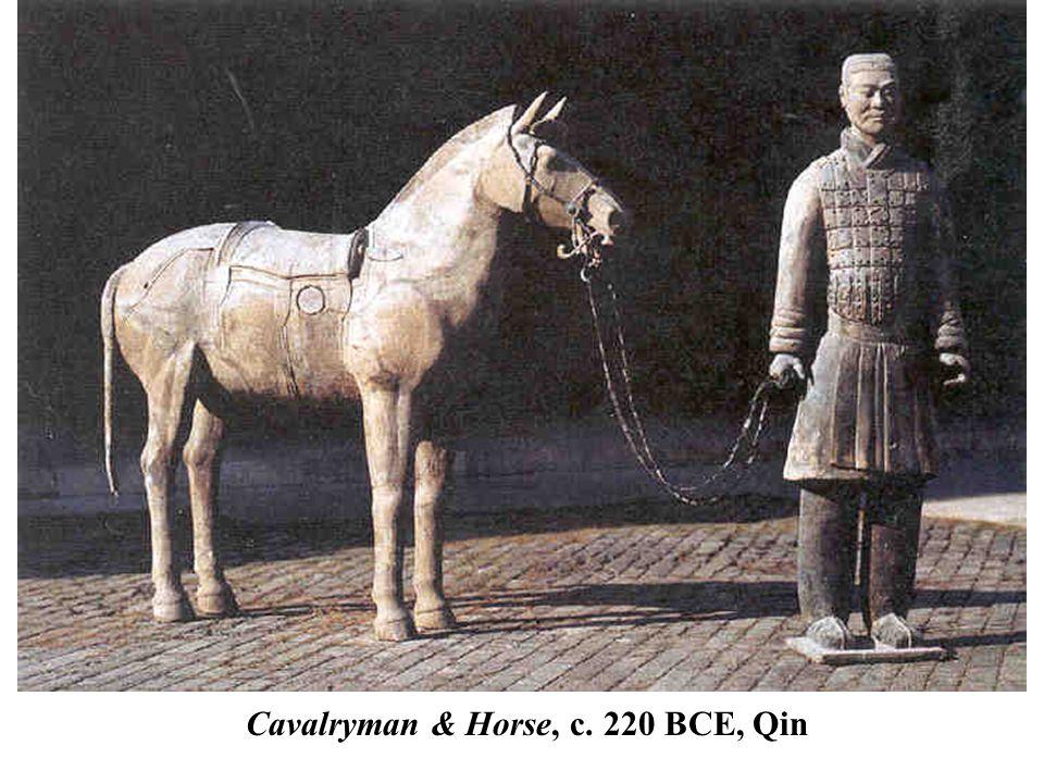 Cavalryman & Horse, c. 220 BCE, Qin