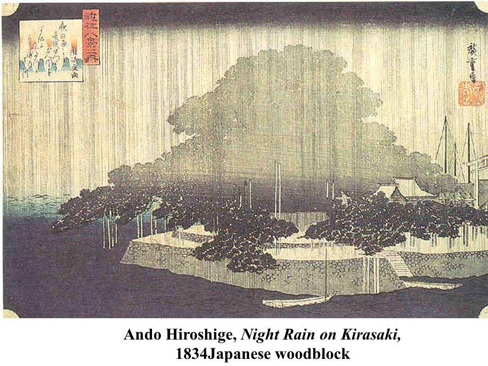 Ando Hiroshige, Night Rain on Kirasaki, 1834Japanese woodblock