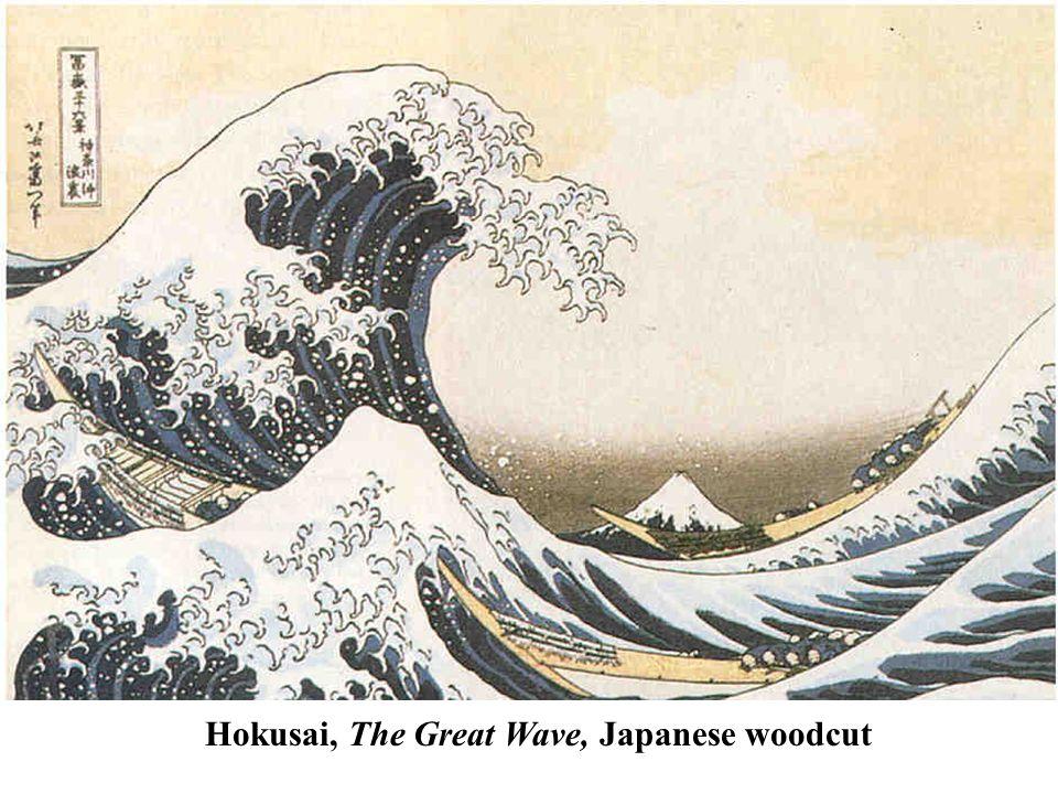 Hokusai, The Great Wave, Japanese woodcut